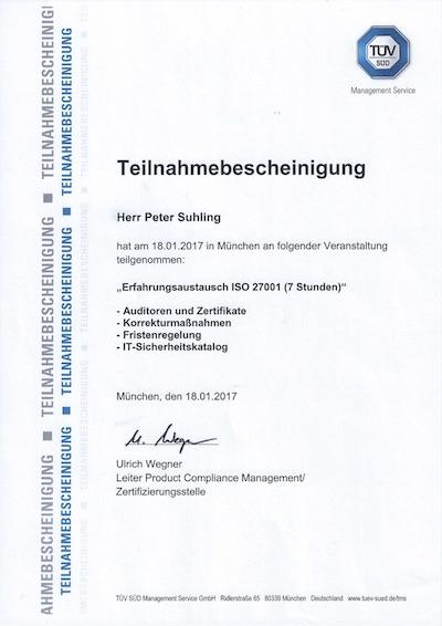 Auditoren-Erfahrungsaustausch ISO 27001 in München