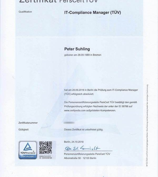 Zertifizierter IT-Compliance Manager (TÜV)