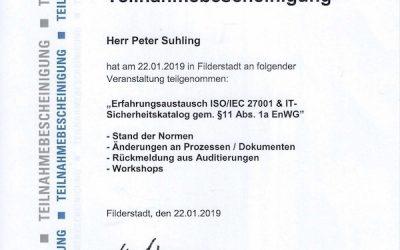 Erfahrungsaustausch ISO/IEC 27001 und IT-Sicherheitskatalog beim TÜV SÜD