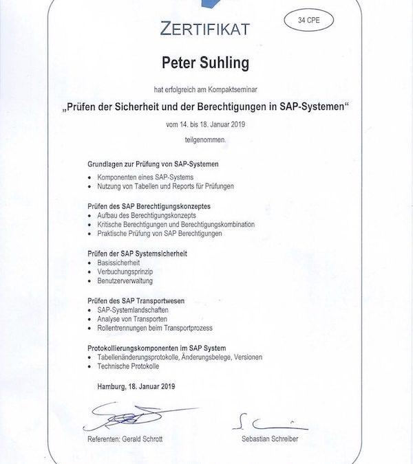 Zertifikatskurs Prüfen der Sicherheit und Berechtigungen in SAP-Systemen