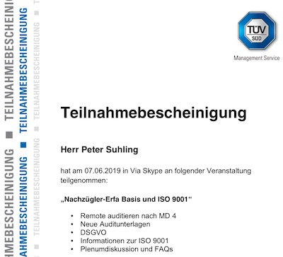 Erfahrungsaustausch ISO/IEC 9001 – Qualitätsmanagementsystem beim TÜV SÜD